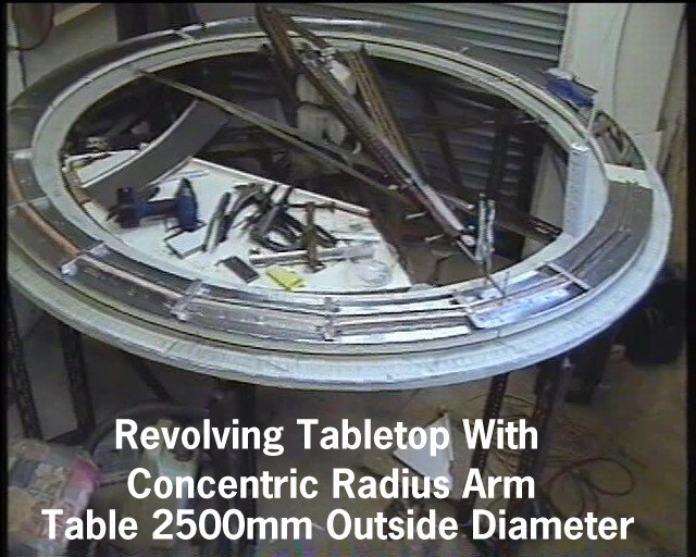 Iu0027ve Built A Circular Rotating Work Table. This Is Constructed Mainly From  Discarded Dexion Angle Sections. The Outer Diameter Is 2500mm, And The  Inner ...